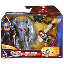 Супермен из фильма MAN OF STEEL Человек из Стали супергерой атакующий робота, фото 2