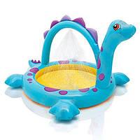 """Intex 57437, детский надувной бассейн """"Динозаврик"""", +надувное дно, +фонтанчик! Детский бассейн 57437"""