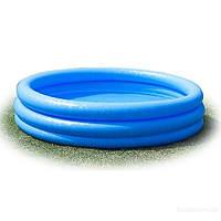 Бассейн 58426, Хрустальный круг, детский надувной бассейн Intex 58426, синий, 288 л, три секции, от 1 годика,