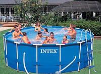Каркасный бассейн Intex 28236 (54946),+лестница,+защитный тент,+подстилка,+насос-фильтр, бассейн Metal Frame P