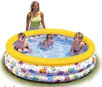 Детский надувной бассейн, Intex 56440, +ремкомплект, 481 л, надувное дно, бассейны Intex