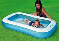 Прямоугольный бассейн, детский, надувной бассейн Intex 57403, Надувное Дно! 166 х 100 х 28 см, 128 л