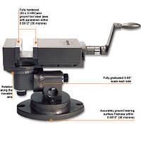 Тиски станочные высокоточные Groz UV/SP/100, ширина губок 100 мм, механизм поворота на 360 градусов