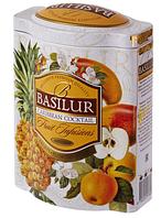 "Чай Basilur ""Фруктовый коктейль"" Карибский коктейль ж/б 100 г"