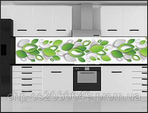 Стеклянный фартук для кухни - скинали Листья