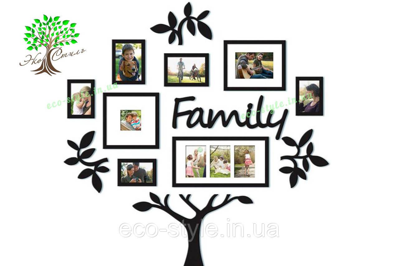 Композиция из фоторамок Family