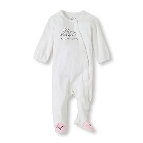"""Комбинезон для новорожденного """"Зайчата"""" Children's Place, человечек для девочки мальчика, на 0-3 мес, фото 2"""