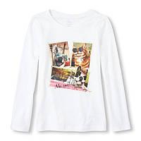 Реглан детский для девочки The Children's Place, размер XS (на 4 года), детские футболки для девочек