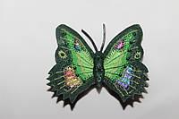 """Брошь """"Бабочка"""" из натуральной кожи"""