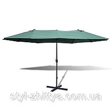 Садовий парасолька 2,7 х 4,6 м з центральною стійкою