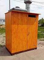 Душ деревянный летний (с предбанником) из имитации бруса