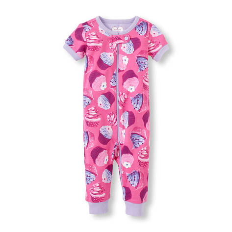"""Комбинезон для новорожденного """"Кексы"""" Children's Place, человечек для девочки, на возраст 0-3 месяца, фото 2"""