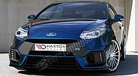 Бампер передний Ford Focus MK3 (в стиле Focus RS 2015) дорест.
