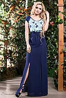 Модное длинное летнее платье с разрезами в пол 42-52 размеры