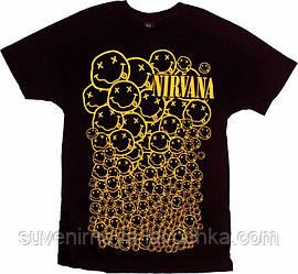 Футболка Nirvana (смайлы)