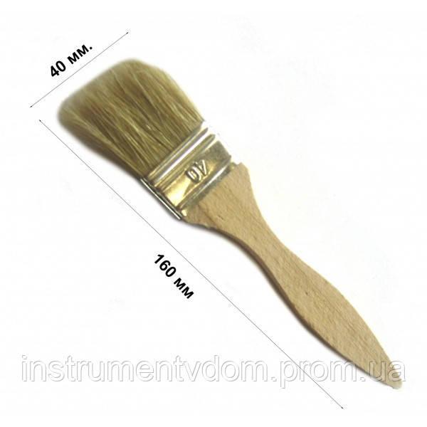 Кисть флейцевая тонкая 40 мм, плоская (набор 10 шт)