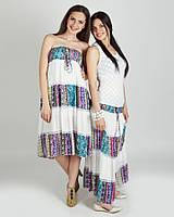 Модный легкий летний  сарафан -юбка