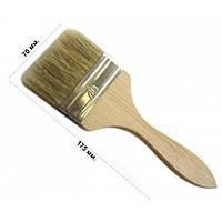 Кисть флейцевая тонкая 70 мм, плоская (набор 10 шт)