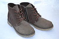 Ботинки из нубука осень-весна женские 37