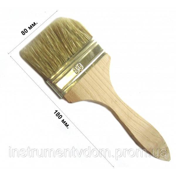 Кисть флейцевая тонкая 80 мм, плоская (набор 10 шт)