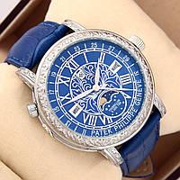Астрономические часы Patek Philippe Grand Complications 6002 Sky Moon Tourbillon - цвет платина в синем, фото 1