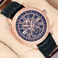 Астрономічний годинник Patek Philippe Grand Complications 6002 Sky Moon Tourbillon - колір золото з чорним, фото 1