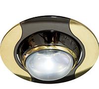 Встраиваемый точечный светильник Feron 020 R-50 черный\золото