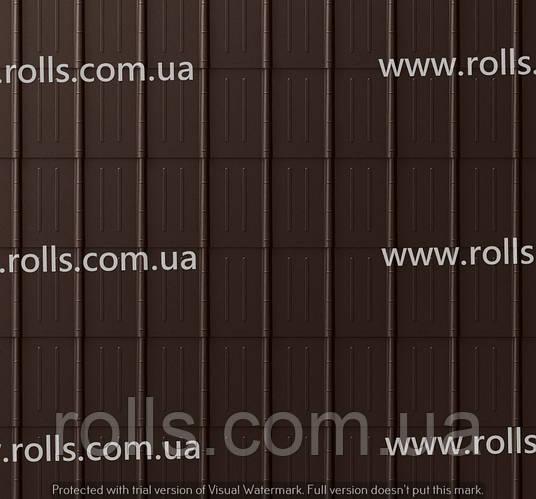 Dachplatte NUSSBraun - Черепица алюминиевая, цвет ореховый Prefa Кровельный лист, Roof tile
