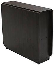 Стіл книжка з ДСП у вітальню 3 з закругленими кутами, хромованими ножками Матролюкс