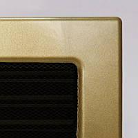 Решетка каминная Kratki с покрытием и жалюзи, Золото гальваническое