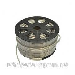 Светодиодная лента 3014-120 WW 220В тёплый белый IP68, герметичная, 1м