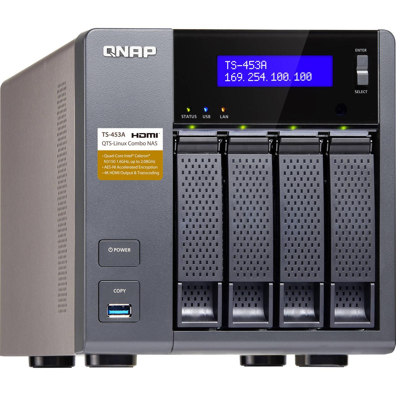 Сетевые накопители Qnap TS-453A-8G