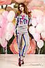 Яркий и модный спортивный костюм, двунитка, довяз, для мам и дочек, 44-50 размеры