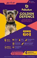 Капли на холку Золотая защита Palladium Палладиум для собак до 4кг, 1 пипетка 0,5 мг