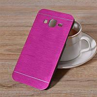 Чехол Motomo Aluminum Samsung J200h Galaxy J2 ярко-розовый