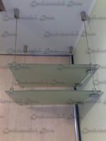 Стеклянные полочки тросовые, фото 1
