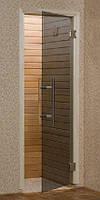 Стеклянные двери для сауны PREMIA 70х190 бронза