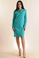 Комфортное и приятное к телу демисезонное платье Манго, прямое, в спортивном стиле с карманами, 42-52 размеры, фото 1