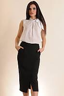 Блуза свободного кроя с ассиметричными складками у горловины, жатый хлопок (батист), 100% хлопок 42-52 размеры