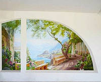 Художественная роспись стен акриловыми красками