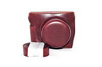 Защитный футляр - чехол для фотоаппаратов NIKON 1 J5 - цвет кофе