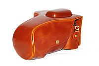 Защитный футляр - чехол для фотоаппаратов NIKON D5500 - коричневый