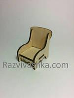Кукольная мебель Кресло  (для куклы 8 см, (Pet shot, my litte pony, Свинки Пеппа, феи), фото 1