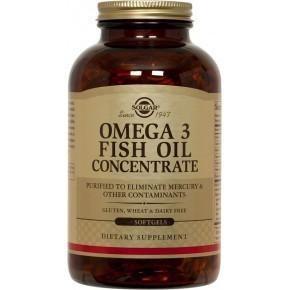 Омега 3 Рыбий жир концентрат  в капсулах ( Omega-3 Fish Oil )(120капс.,Солгар)