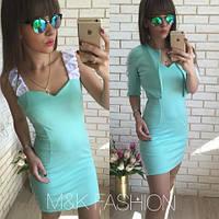 Комплект  Платье+ болеро