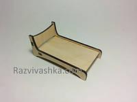 Кукольная мебель Кроватка (под роспись, декупаж), фото 1