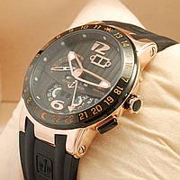 Мужские часы Ulysse Nardin Perpetual Calendars El Toro GMT черные с золотом