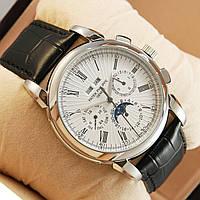 Мужские часы Patek Philippe GENEVE - цвет серебро с белым, фото 1