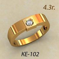 Золотое кольцо 585 пробы снебольшим Фианитом