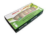 Помазок для бритья White Cloud с белым ворсом, прозрачное основание ручки, №9